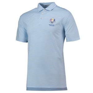 The 2020 Ryder Cup Peter Millar Competition Stripe Performance Polo - Cottage Blue/White