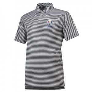 The 2020 Ryder Cup Peter Millar Competition Stripe Performance Polo - Iron/White