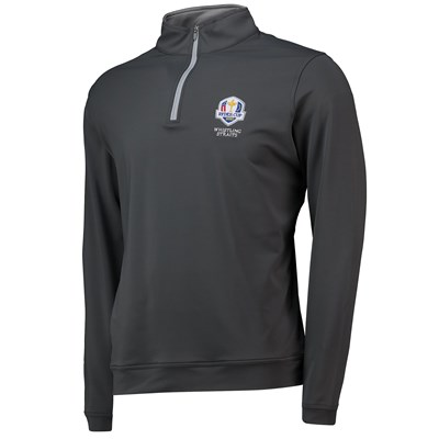 The 2020 Ryder Cup Peter Millar Perth Stretch Loop Terry Quarter-Zip - Iron