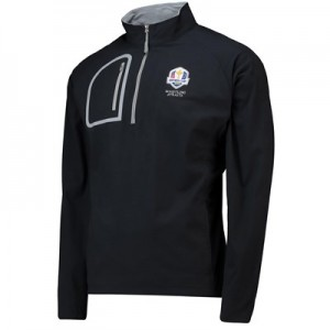 The 2020 Ryder Cup Peter Millar Surge Soft Shield Half Zip - Black