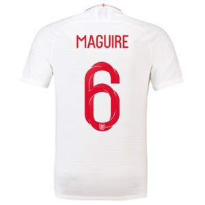 England Home Vapor Match Shirt 2018 with Maguire 6 printing