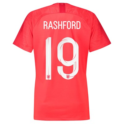 England Away Stadium Shirt 2018 - Womens with Rashford 19 printing