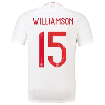 England Home Vapor Match Shirt 2018 with Williamson 15 printing