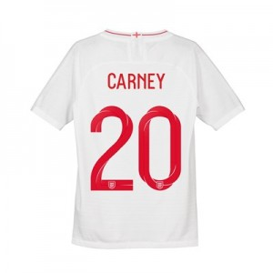 England Home Vapor Match Shirt 2018 - Kids with Carney 20 printing