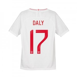 England Home Vapor Match Shirt 2018 - Kids with Daly 17 printing
