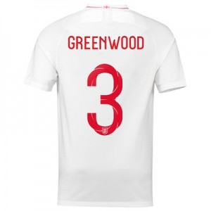 England Home Stadium Shirt 2018 with Greenwood 3 printing
