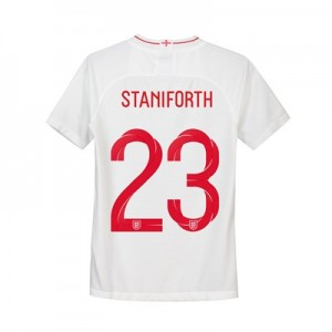 England Home Stadium Shirt 2018 - Kids with Staniforth 23 printing