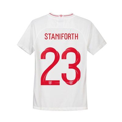 England Home Stadium Shirt 2018 - Kids with Staniforth 23 printing