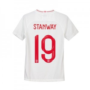 England Home Stadium Shirt 2018 - Kids with Stanway 19 printing