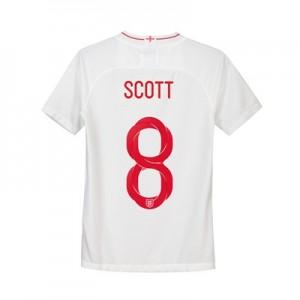 England Home Stadium Shirt 2018 - Kids with Scott 8 printing