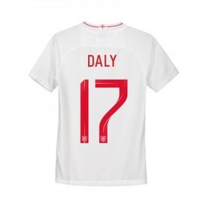 England Home Stadium Shirt 2018 - Kids with Daly 17 printing
