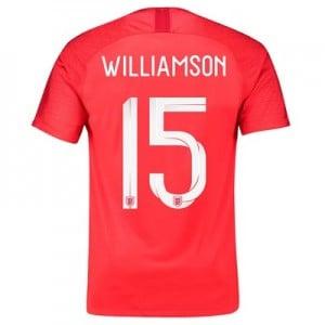 England Away Stadium Shirt 2018 with Williamson 15 printing