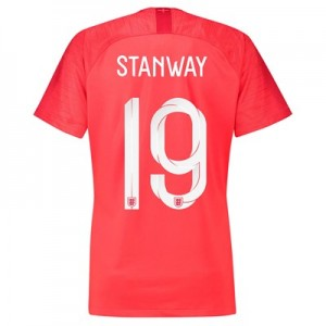 England Away Stadium Shirt 2018 - Womens with Stanway 19 printing