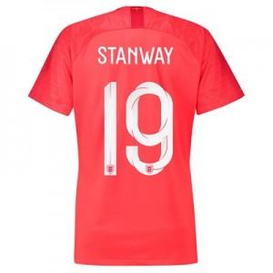 England Away Stadium Shirt 2018 - Womens with Stanway 19 printing