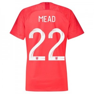 England Away Stadium Shirt 2018 - Womens with Mead 22 printing