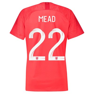 England Away Stadium Shirt 2018 - Womens with Mead 22 printing