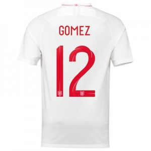 England Home Stadium Shirt 2018 with Gomez 12 printing