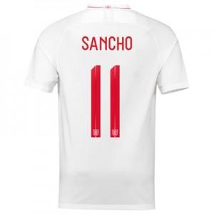 England Home Stadium Shirt 2018 with Sancho 11 printing