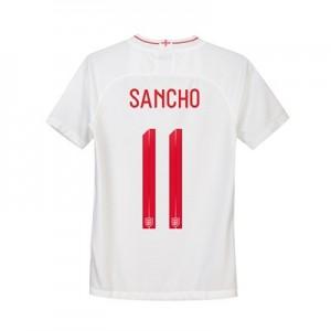 England Home Stadium Shirt 2018 - Kids with Sancho 11 printing