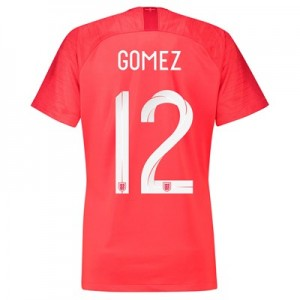 England Away Stadium Shirt 2018 - Womens with Gomez 12 printing