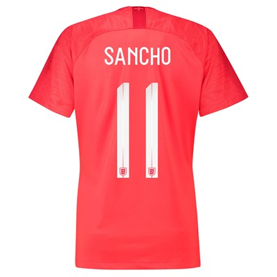 England Away Stadium Shirt 2018 - Womens with Sancho 11 printing