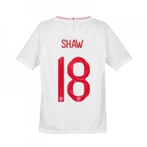 England Home Vapor Match Shirt 2018 - Kids with Shaw 18 printing
