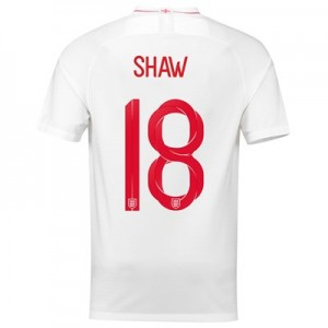 England Home Stadium Shirt 2018 with Shaw 18 printing
