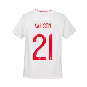 England Home Stadium Shirt 2018 - Kids with Wilson 21 printing