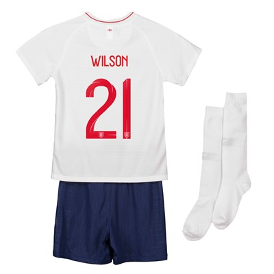 England Home Stadium Kit 2018 - Infants with Wilson 21 printing