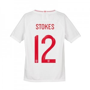 England Home Vapor Match Shirt 2018 - Kids with Stokes 12 printing