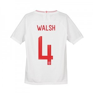 England Home Vapor Match Shirt 2018 - Kids with Walsh 4 printing