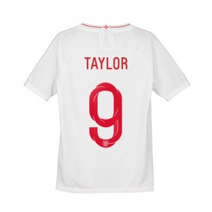 England Home Vapor Match Shirt 2018 - Kids with Taylor 9 printing