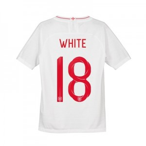 England Home Vapor Match Shirt 2018 - Kids with White 18 printing