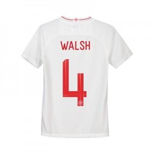 England Home Stadium Shirt 2018 - Kids with Walsh 4 printing