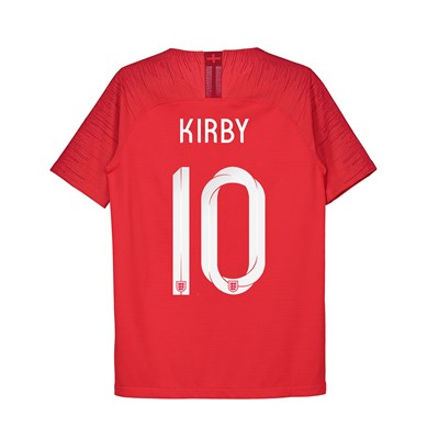 England Away Vapor Match Shirt 2018 - Kids with Kirby 10 printing
