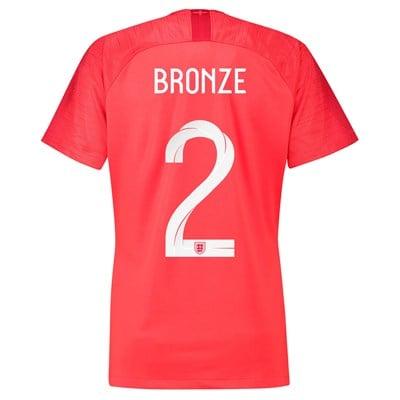 England Away Stadium Shirt 2018 - Womens with Bronze 2 printing