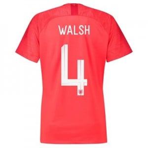 England Away Stadium Shirt 2018 - Womens with Walsh 4 printing
