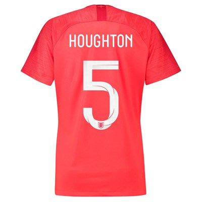 England Away Stadium Shirt 2018 - Womens with Houghton 5 printing