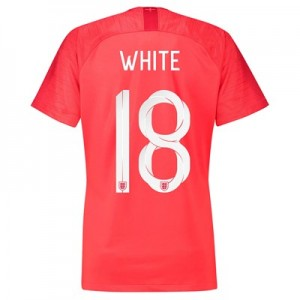 England Away Stadium Shirt 2018 - Womens with White 18 printing