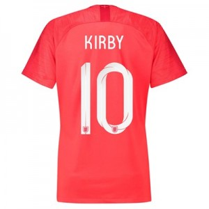 England Away Stadium Shirt 2018 - Womens with Kirby 10 printing