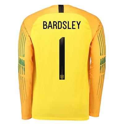 England Goalkeeper Stadium Shirt 2018 with Bardsley 1 printing