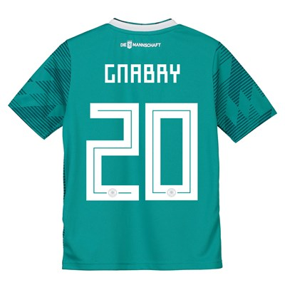 Germany Away Shirt 2018 - Kids with Gnabry 20 printing