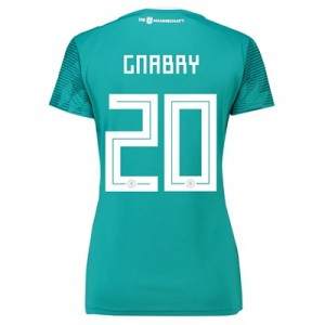 Germany Away Shirt 2018 - Womens with Gnabry 20 printing
