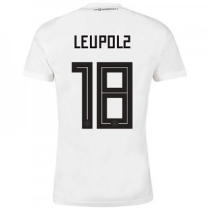 Germany Home Shirt 2018 with Leupolz 18 printing