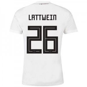 Germany Home Shirt 2018 with Lattwein 26 printing