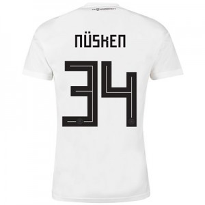 Germany Home Shirt 2018 with Nüsken 34 printing
