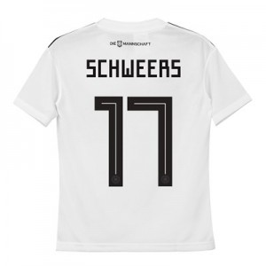 Germany Home Shirt 2018 - Kids with Schweers 17 printing
