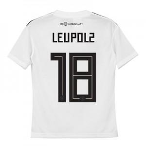 Germany Home Shirt 2018 - Kids with Leupolz 18 printing