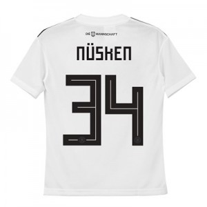 Germany Home Shirt 2018 - Kids with Nüsken 34 printing