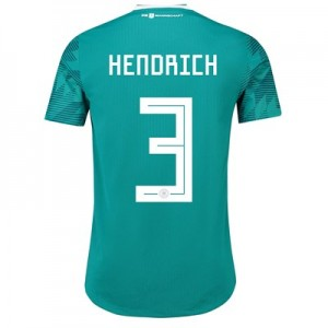 Germany Authentic Away Shirt 2018 with Hendrich 3 printing